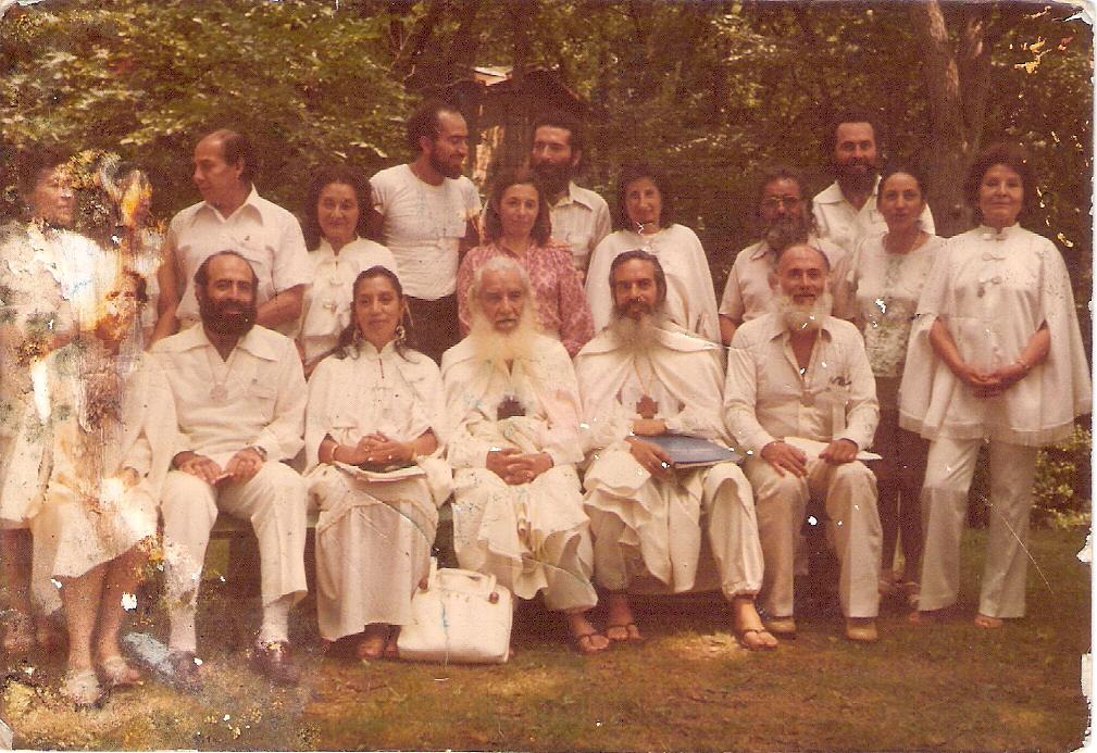 reunion en 1980 en Chicago, U.S.A.  III Conferencia Mundial por la Unidad Humana